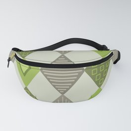1950s Abstract Diamonds Pattern Chartreuse Fanny Pack