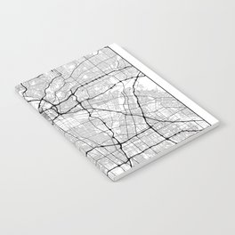 Minimal City Maps - Map Of Los Angeles, California, United States Notebook