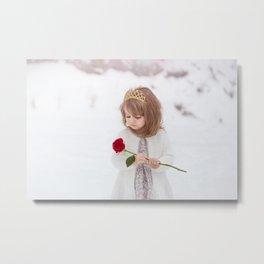 Snow Princess Metal Print