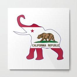 California Republican Elephant Flag Metal Print