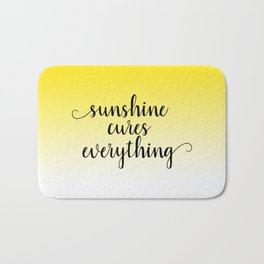 Sunshine Cures Everything Bath Mat