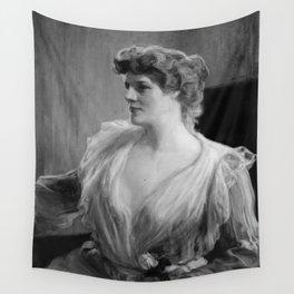 Albert Edelfelt - Portrait of Madame Suzanne Potre Wall Tapestry
