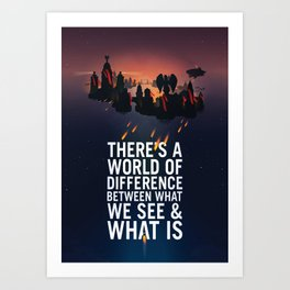Bioshock Infinite Columbia Quote Art Print