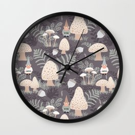 Forest Gnomes Wall Clock