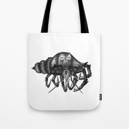 Steampunk angry crab Tote Bag