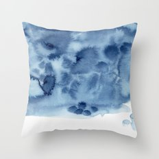 indigo shibori 05 Throw Pillow