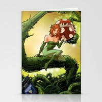 poison ivy Stationery Cards featuring Poison Ivy by Andrew Sebastian Kwan