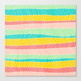 Beach Stripe (Vintage Candy) Canvas Print