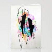 lightning Stationery Cards featuring Lightning by Kelsey Brooks