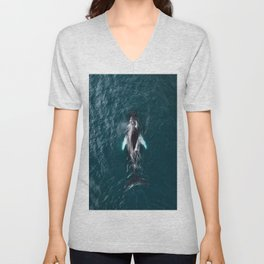 Humpback Whale in Iceland - Wildlife Photography Unisex V-Neck