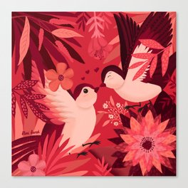 Birds in love Canvas Print
