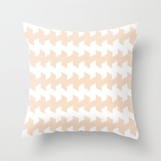 jaggered and staggered in linen Throw Pillow