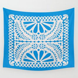Fiesta de Flores in Party Blue Wall Tapestry