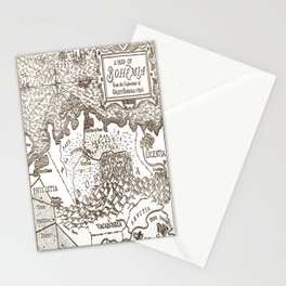 Map of Bohemia Stationery Cards
