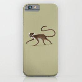 Squirrel Monkey Walking iPhone Case