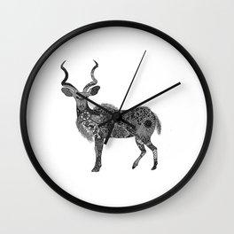 Henna-Inspired Kudu  Wall Clock