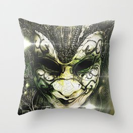 Venice -- A Fractal Dream in the City of Masks Throw Pillow