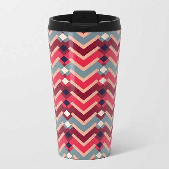 Fractal Mountains - candy Metal Travel Mug