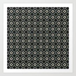 Black Marble Pattern Art Print