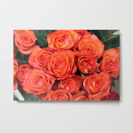 Sunshine Roses Metal Print