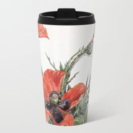 Red Poppies by Charles Demuth, 1929 Travel Mug