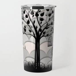 Paper landscape B&W Travel Mug