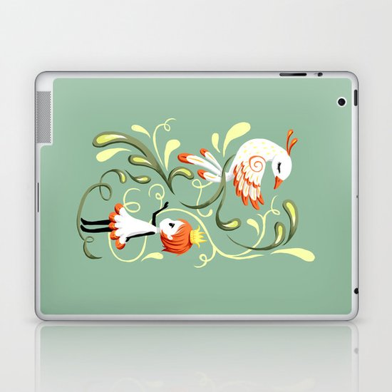 Princess and a Bird Laptop & iPad Skin