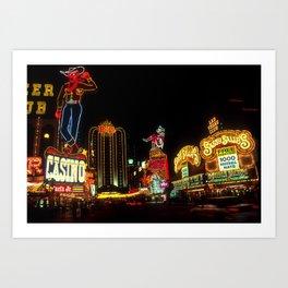 Las Vegas Lights Art Print