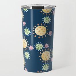 Watercolor Viruses Travel Mug