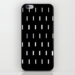 White on Black iPhone Skin