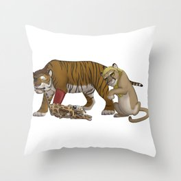 Trash Trio Throw Pillow