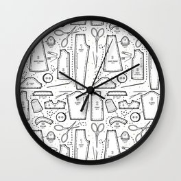Sewing the Stars! White Wall Clock