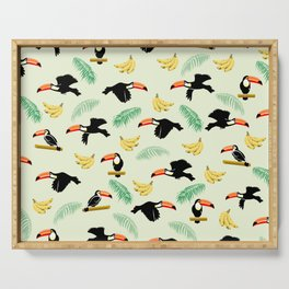 Toucan tropical pattern Serving Tray