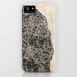 lisbon map ink lines iPhone Case