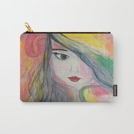 Based on my Original Painting by Jodilynpaintings. Figurative Abstract Pop Art. Carry-All Pouch