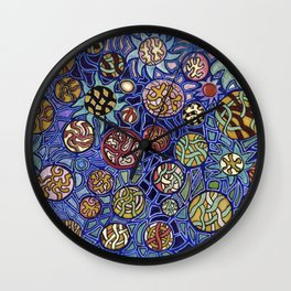 Flower Collage Abstract Wall Clock