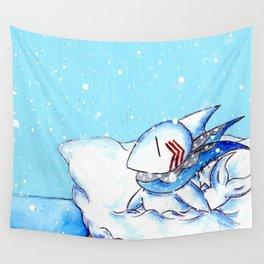 Seaside Snowfall Wall Tapestry