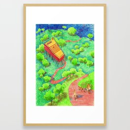 The ride house Framed Art Print