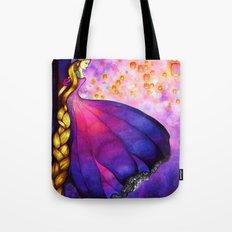 Rapunzel and Lanterns Tote Bag