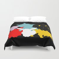 eevee Duvet Covers featuring Evolutions by Tdrisk46