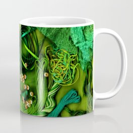 Sewing Notions - Green & Turquoise Coffee Mug