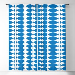 Fish in Blue Blackout Curtain