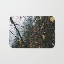 Autumn Fog Drip Dewdrops Bath Mat