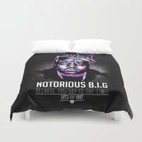 notorious Duvet Covers featuring Notorious Beef by Street Vandals