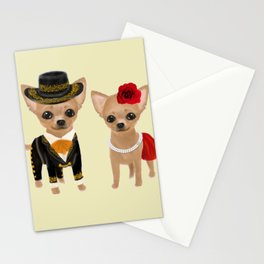 chihuahua couple mariachi Stationery Cards