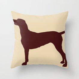 Vizsla Dog Print Throw Pillow