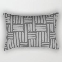 Grey Basket Weave Rectangular Pillow