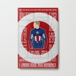 The First Avenger Metal Print
