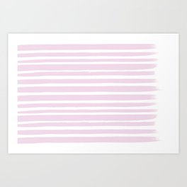 Pink Stripes - Rayures roses Art Print