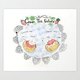 cream tea debate Art Print